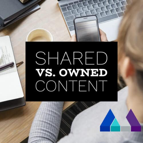 Shared versus owned content