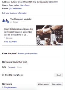 Google My Business The Measured Marketer Reviews