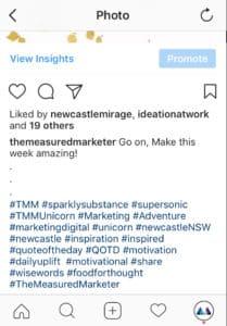 Instagram hashtags screenshot